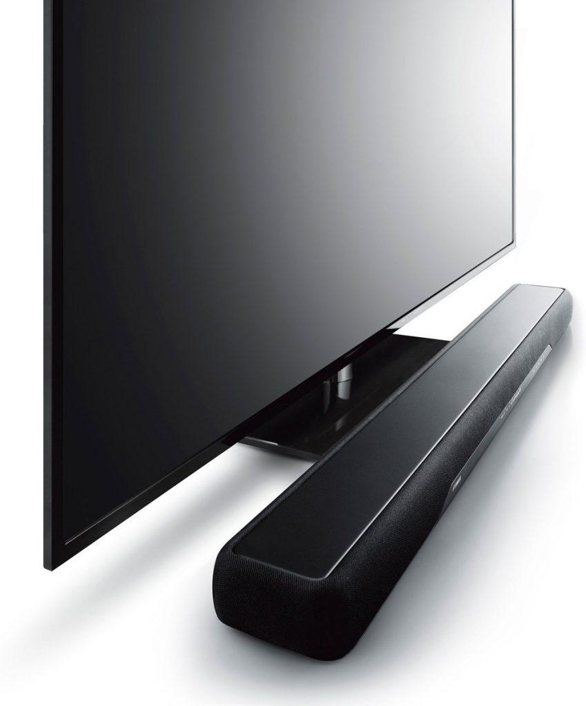 Yamaha YAS-207 onder tv zij aanzicht