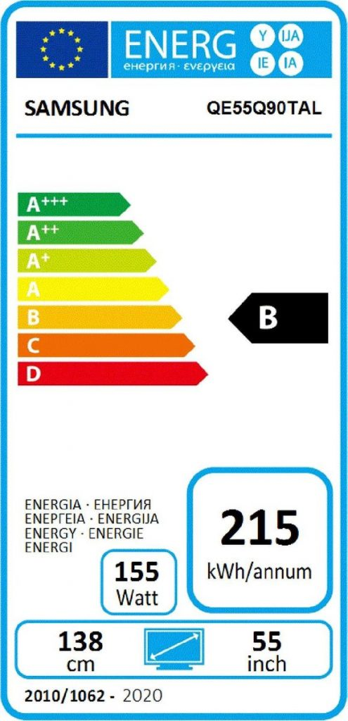 Energielabel televisie
