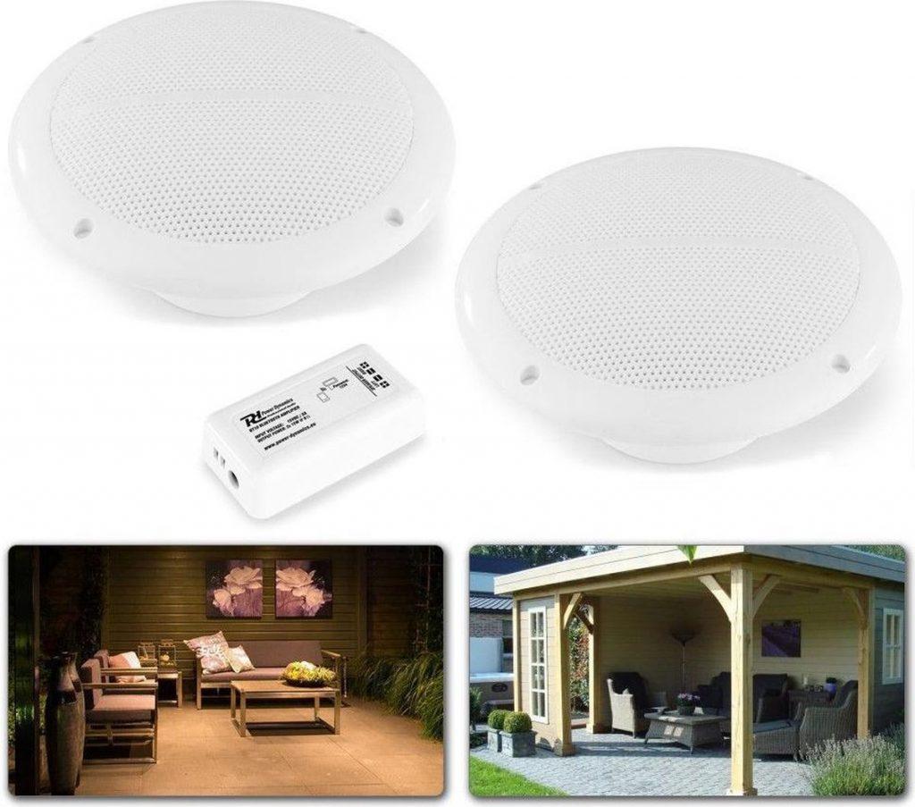 Beste Plafondspeakers 2021 - Top 10 getest! - Bluetooth speakerset - Power Dynamics BT10SET - Stereo plafondspeakerset met zéér compacte Bluetooth versterker en 2 vochtbestendige inbouw plafondspeakers