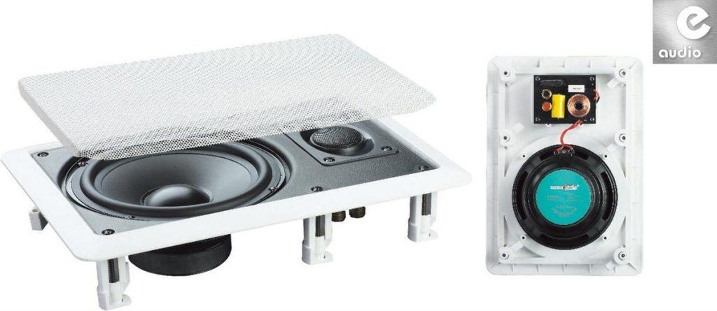 Beste Plafondspeakers 2021 - Top 10 getest! - E-Audio B411A 2-weg inbouwluidsprekers voor muur of plafond 120 watt