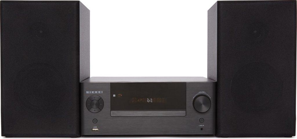 Nikkei NMD370 - Home Entertainment Audio Set / Speakerset / Stereosysteem - Microset met USB-poort, Bluetooth, CD/DVD speler en Afstandbediening - Zwart