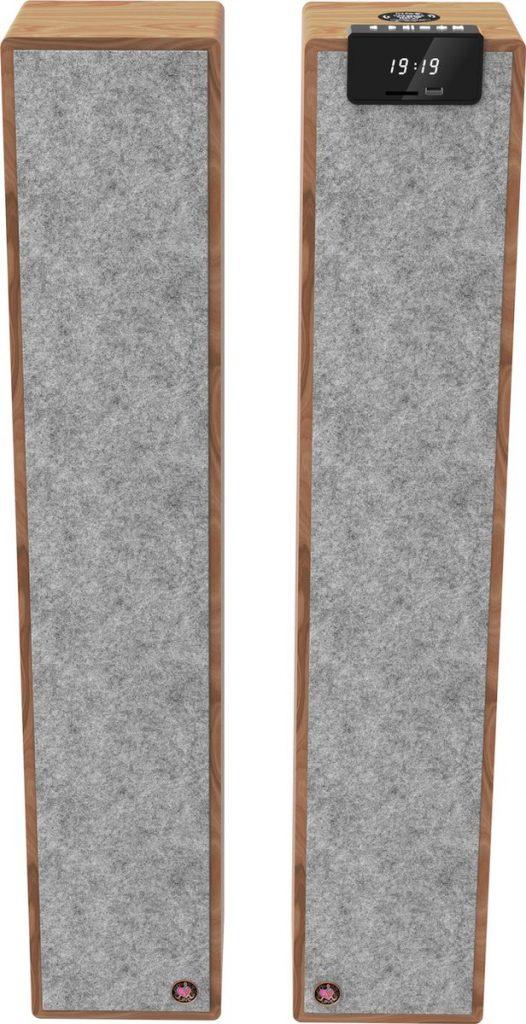 Avlove AVL2F - Stereotoren Twin Tower - Speakerset / Luidsprekers - Design Bamboe Grijs