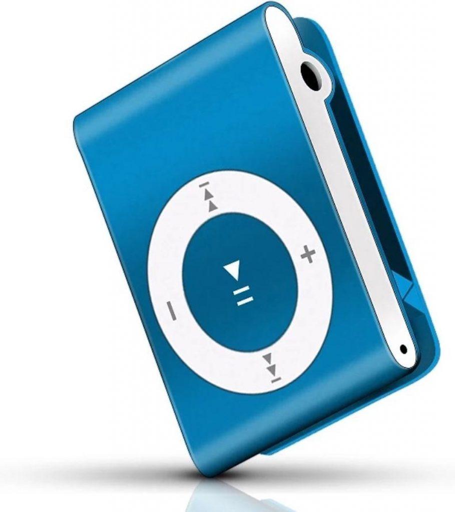 Mp3 Speler  Blauw audio  Music Player Met handige Clip