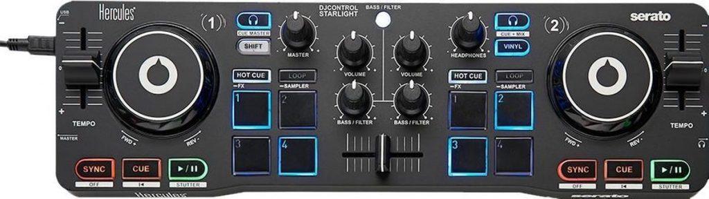 Beste DJ Controller 2021 - Top 10 getest! - Hercules DJControl Starlight - DJ controller - Zwart