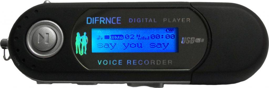 Difrnce MP851 / MP3 speler met USB aansluiting / 4 GB / Licht gewicht / Oordopjes meegeleverd / LCD display Zwart