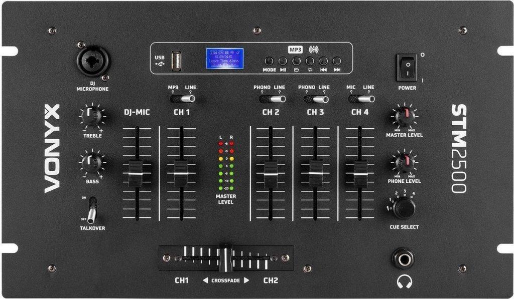 Beste DJ Mixer 2021 - Top 10 getest! - Vonyx STM2500 5-Kanaals Mixer USB/MP3 met Bluetooth
