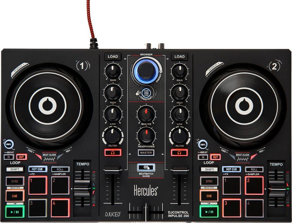 Beste DJ Controller 2021 - Top 10 getest! - Hercules DJControl Inpulse 200