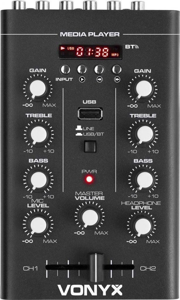 Beste DJ Mixer 2021 - Top 10 getest! - Vonyx STM500BT 2-kanaals mixer met Bluetooth en mp3 speler