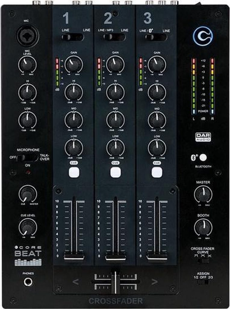 Beste DJ Mixer 2021 - Top 10 getest! - DAP CORE Beat 3 kanaals DJ mixer bluetooth