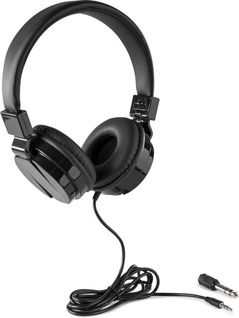 Beste DJ Koptelefoon 2021 - Top 10 getest! - DJ koptelefoon - Vonyx VH120 DJ hoofdtelefoon - on-ear - inklapbare oorschelpen - voor beginnende en gevorderde DJ's - Zwart