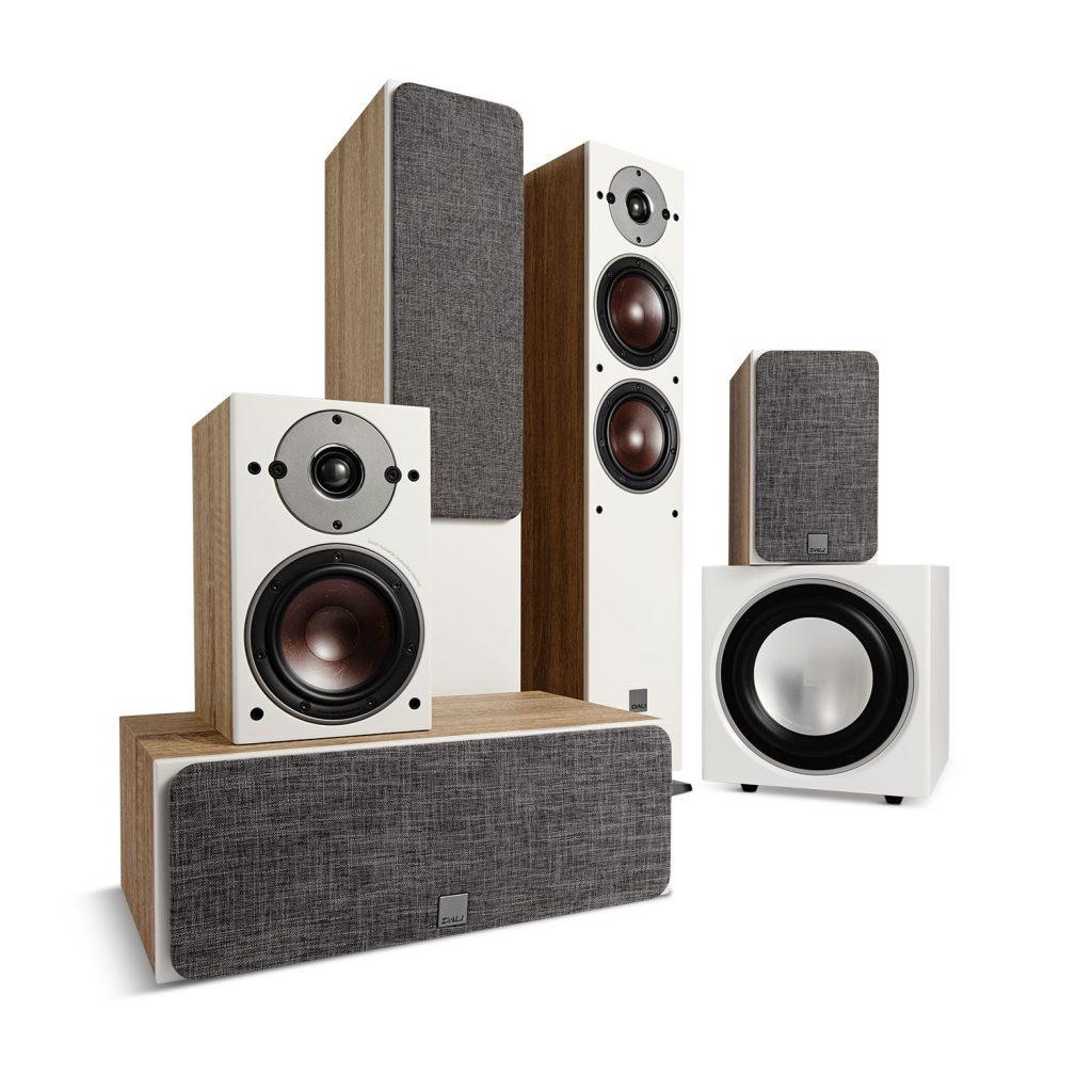 DALI OBERON 5 + OBERON 1 + OBERON VOKAL + SUB E-9 F - Beste thuisbioscoop luidsprekersysteem 2021