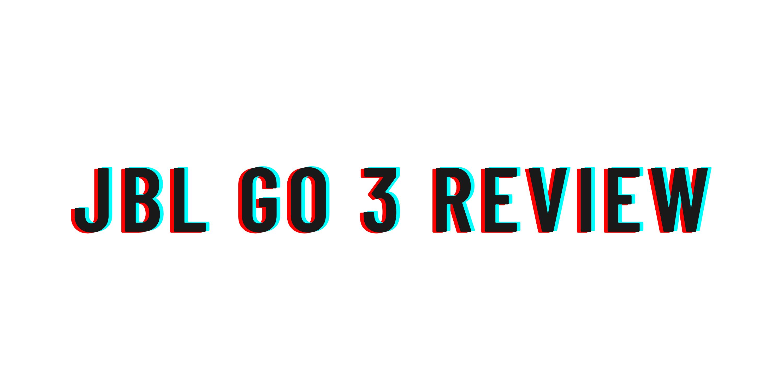 JBL Go 3 review